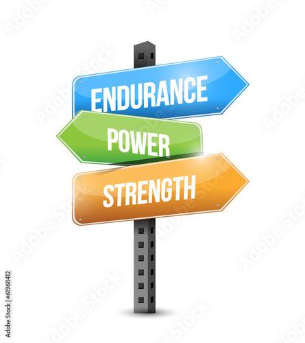 Photo  endurance, power, strength sign illustration