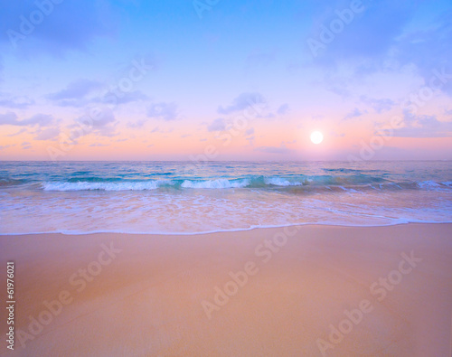 Spoed Foto op Canvas Zalm Art Beautiful tropical sea landscape
