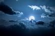 Leinwanddruck Bild - full moon night