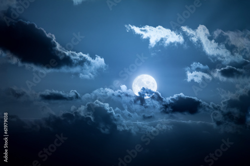 Canvas Prints Night full moon night