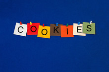 Cookies, Sign Series For Computer Terms And Technology.