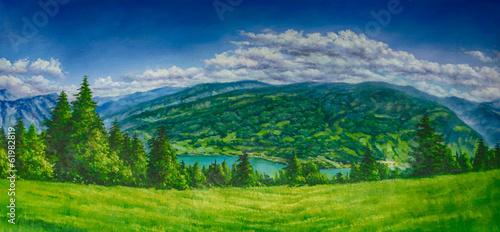 Landschaft Gemälde Ölgemälde Kunstdruck artprint