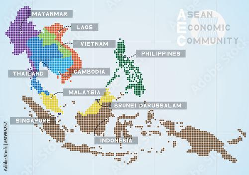 Fotografia, Obraz  Asean Economics Community
