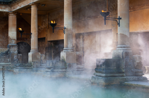 Roman Baths in Bath, UK Slika na platnu