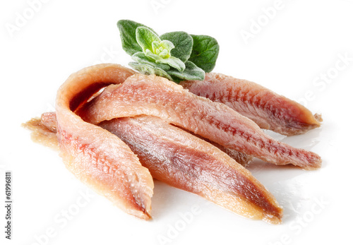 Photo Anchovy with herbs and spice