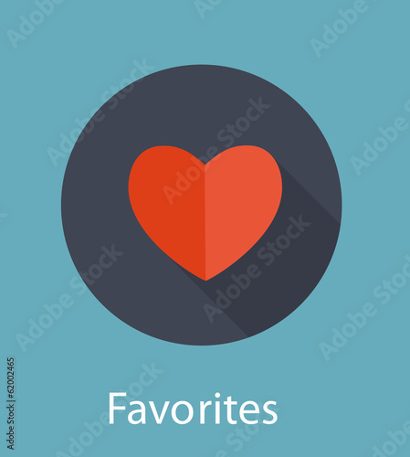 Favorites Flat Icon Concept Vector Illustration Canvas Print