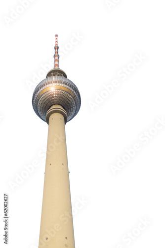Foto op Plexiglas Berlijn Berlin Fernsehturm Alexanderplatz Freisteller