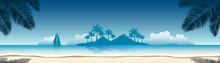 Summer Vacation Vector Banners...