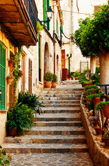 Fototapeta stara uliczka na Majorce