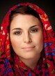 Leinwanddruck Bild - Muslima mit Kopftuch