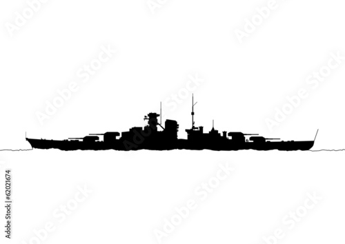 Battleship Bismarck Fototapete