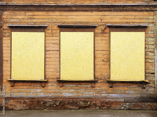 windows with beaverboard - Buy this stock photo and explore