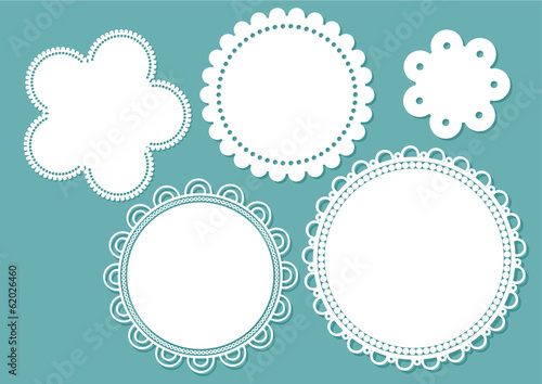 Fototapeta labels with lacy frames obraz