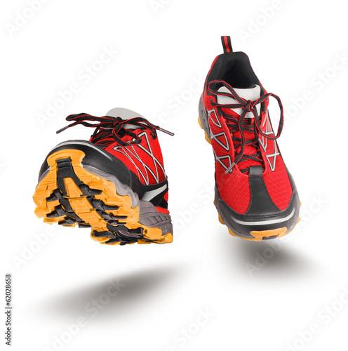 Fotografia  Red running sport shoes