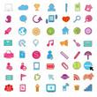Social color Media color Icon, Network Vector