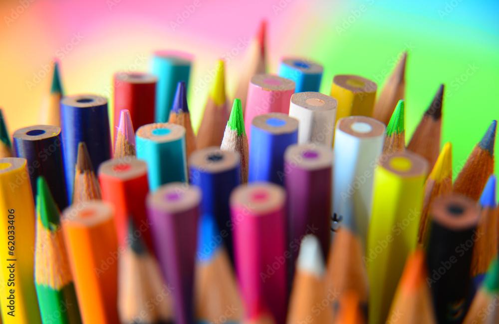 Fototapeta Crayons en vrac