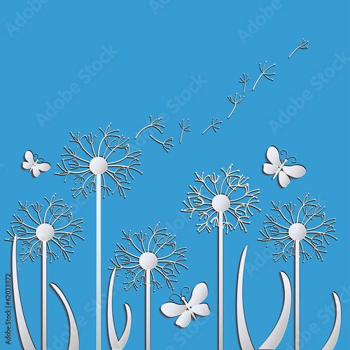 dandelions vector - 62033872
