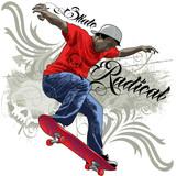 Fototapeta Fototapety dla młodzieży do pokoju - Skate Radical