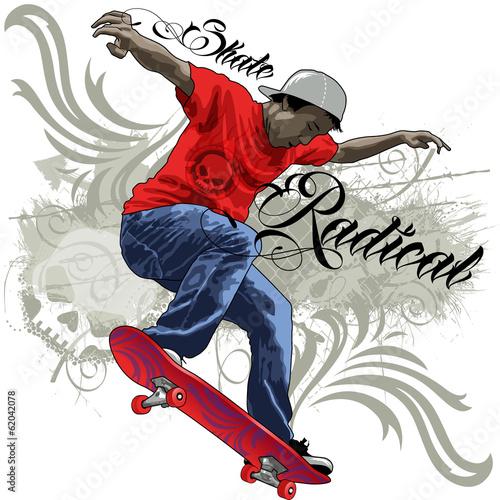 Fotografie, Obraz  Skate Radical