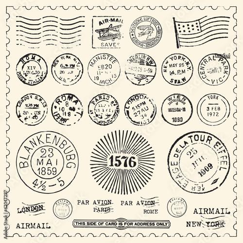 Photo Vintage Stamps Set