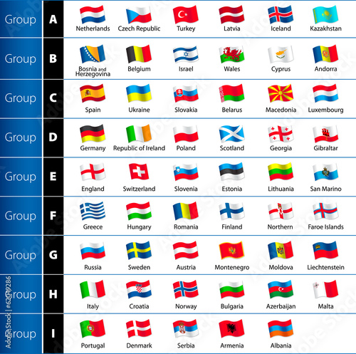 Photo  Soccer Championship 2016 Euro Flags