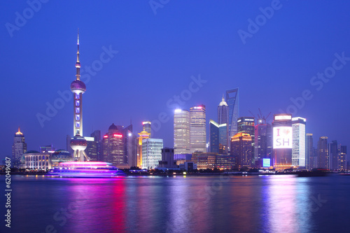 Shanghai night плакат