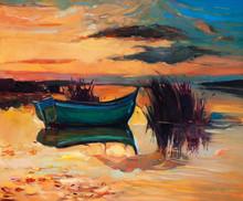 Boat And Lake