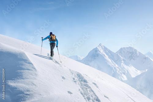 Fotografie, Obraz  Touring skier in the alps