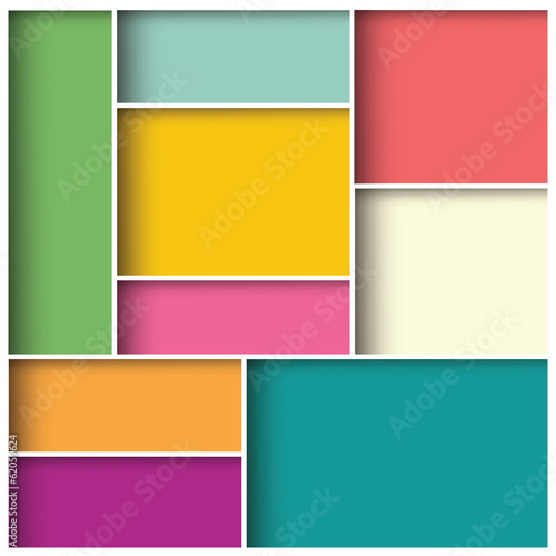 Abstract 3d square background, colorful tiles, geometric, vector