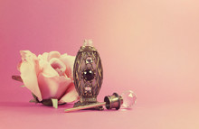 Retro Vintage Perfume Bottle With Crystal Stopper
