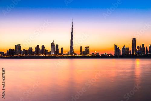 Foto-Flächenvorhang - Dubai skyline at dusk, UAE. (von Luciano Mortula-LGM)
