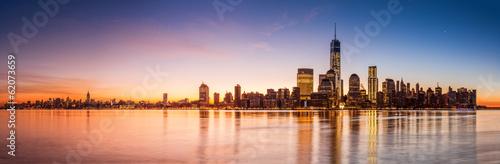 Poster New York New York panorama at sunrise