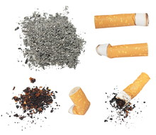 Set Cigarette Butts And Ashes ...