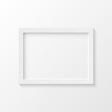 White Picture Frame Vector Illustration