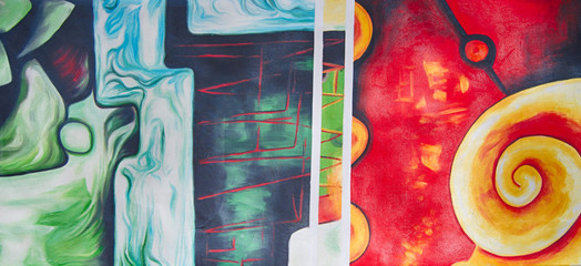 Obraz na SzkleMuster abstrakt Gemälde Ölgemälde Kunstdruck
