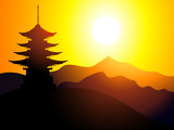 Schatten an der chinesischen Bucht
