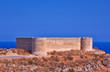 Turkish medieval fortess of Aptera in Crete, Greece.