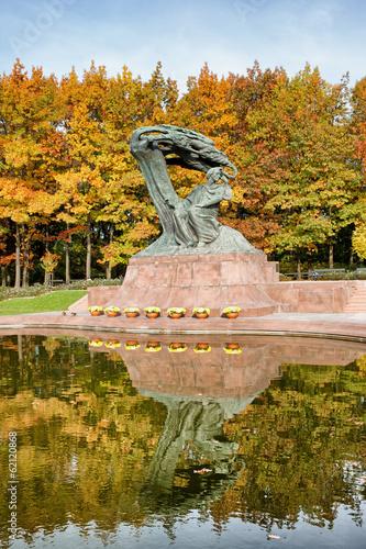 fototapeta na szkło Pomnik Fryderyka Chopina w Warszawie