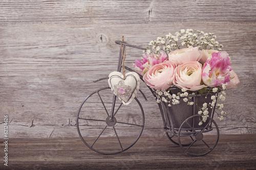 Foto-Leinwand ohne Rahmen - Ranunculus flowers (von Elena Schweitzer)