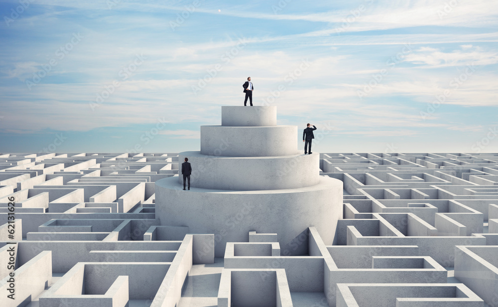 Fototapeta businessmen and maze