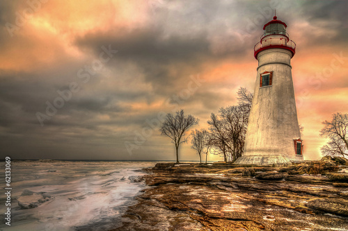Photo sur Toile Phare Marblehead Lighthouse HDR