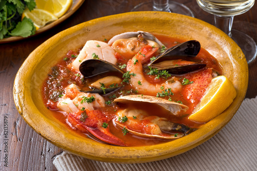 Papiers peints Coquillage Seafood Stew