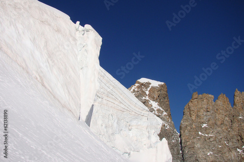 Fotografie, Obraz  Les séracs de la Barre des Écrins, Alpes