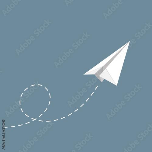 Photo  vector illustration of Paper plane