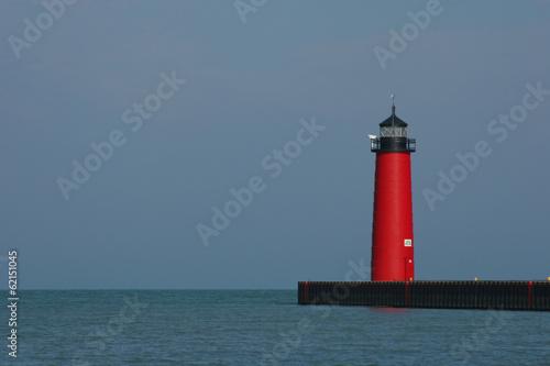 Foto op Aluminium Vuurtoren Kenosha Pier Lighthouse