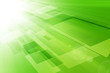 canvas print picture - Abstract light technology on green background.