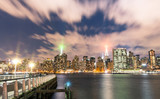 New York City - Skyline by night from Long Island - Manhattan Do