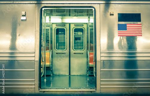 Generic underground train - New York CIty Plakát