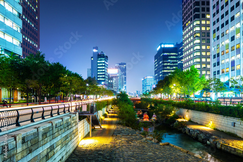 Photo sur Aluminium Seoul Cheonggyecheon in seoul