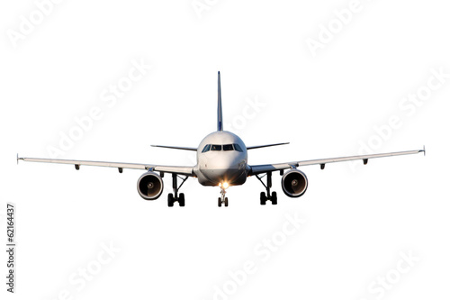 Aircraft isolated on white background Canvas Print